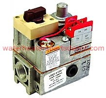 """Y9932 Honeywell VS820A1088/U 750mV Standard Opening Gas Valve, 3/4 x 3/4"""" with 1/2"""" Side Outlets"""